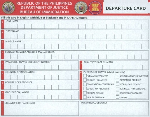 The new 2014 Departure Card