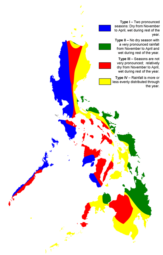 The 4 climates in the Philippines