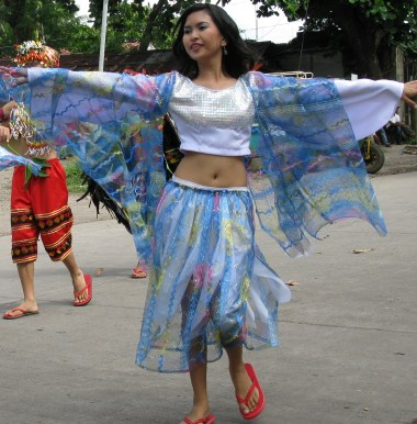 A dancer at the Lanzones festival in Camiguin