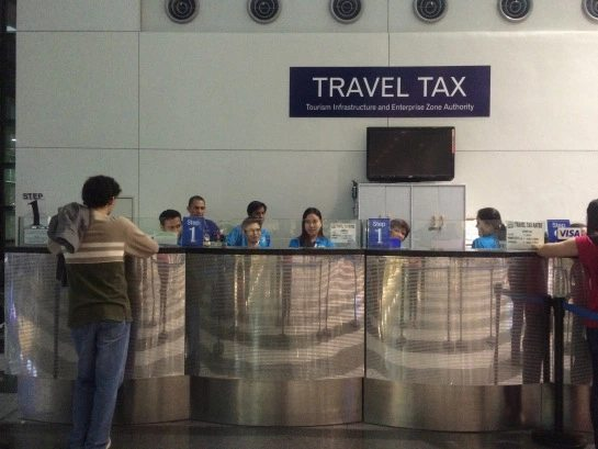 Travel tax counter in NAIA-3, Manila