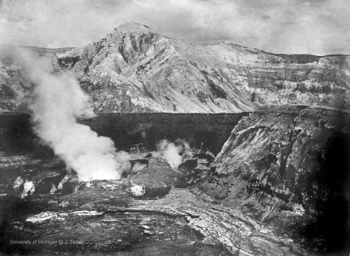 Taal Volcano in the crater after the Jan. 30, 1911 eruption